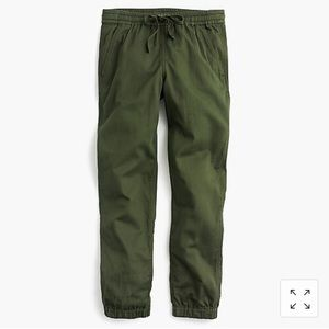 J Crew seaside pant in olive green size 6